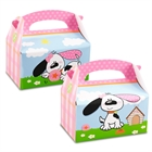 Playful Puppy Pink Empty Favor Boxes (4)