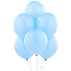 Sky Blue Matte Latex Balloons (6)