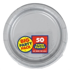 Silver Paper Dinner Plates (50)