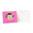 Pink Mod Monkey Thank-You Notes (8)