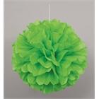 Green Hanging Puff Ball