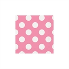 Pink and White Dots Beverage Napkins (16)