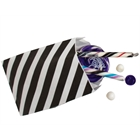 Black Striped Favor Bags (12)