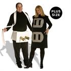 Plug & Socket Couples Set Adult Plus Costume