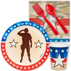 Camo Army Soldier Snack Party Pack for 8