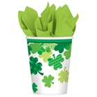 St. Patrick's Day Shamrocks Paper Cups (18)