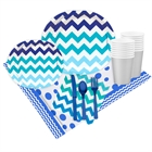 Chevron True Blue Party Pack (16)