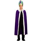 Mardi Gras King Robe & Crown Adult Costume Kit