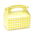 Empty Yellow Gingham Favor Boxes (4)