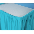 Turquoise Plastic Table Skirt