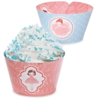Ballerina Reversible Cupcake Wrappers