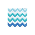 Chevron Blue Beverage Napkins (20)