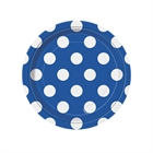 Blue and White Dots Dessert Plates (8)