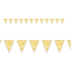 Yellow and White Dots Flag Banner