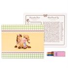 Pink Cowgirl Activity Placemat Kit for 4