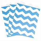 Blue Chevron Paper Treat Bags (10)