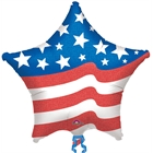 Patriotic Star Jumbo Foil Balloon