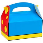 Blue, Red and Yellow Empty Favor Boxes (4)