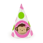 Pink Mod Monkey Cone Hats (8)