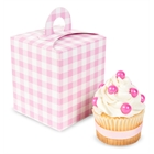 Light Pink Gingham Cupcake Boxes