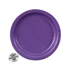 Purple Paper Dessert Plates (24)