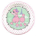 Pink Poodle in Paris Dinner Plates (8)
