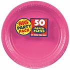 Bright Pink Dinner Plates (50)