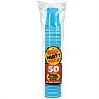 Caribbean Blue Big Party Party 16 oz. Plastic Cups