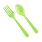 Lime Green Plastic Forks and Spoons