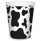 Cow Print 9 oz. Paper Cups (8)