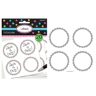 Silver Scalloped Paper Labels (20)