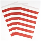 Red Striped Paper Favor Bags (10)