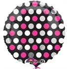 Pink & White Dots Foil Balloon