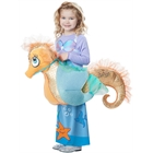 Kids Mermaid Riding a Seahorse Rider Costume