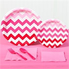 Pink Chevron Party Pack