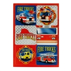 Fire Trucks Sticker Sheets (4)