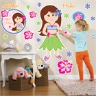Hawaiian Girl Giant Wall Decals