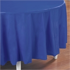 Blue Round Plastic Tablecover