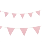 Classic Pink with Polka Dots Paper Flag Banner