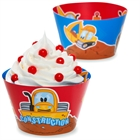 Construction Pals Reversible Cupcake Wrappers (12)