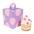 Lavendar with Pink Dots Cupcake Boxes