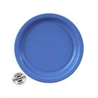 Blue Paper Dessert Plates (24)