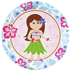 Hawaiian Girl Dinner Plates (8)