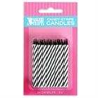 Black Stripe Birthday Candles (24)