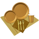 Gold Party Supplies Event Pack for 24