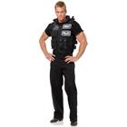 Mens SWAT Team Vest Costume