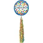 Happy Birthday Streamer AirWalker Foil Balloon