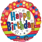 Bright Happy Birthday Foil Balloon