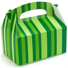 Green Striped Empty Favor Boxes