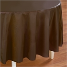 Brown Round Plastic Tablecover